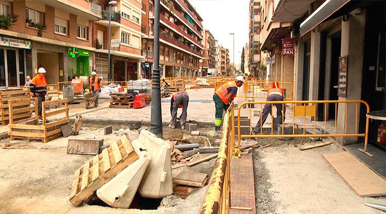 L'Ajuntament reprèn les obres públiques que va paralitzar a causa del coronavirus