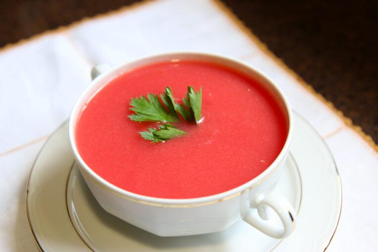 Sopa de síndria i tomàquet